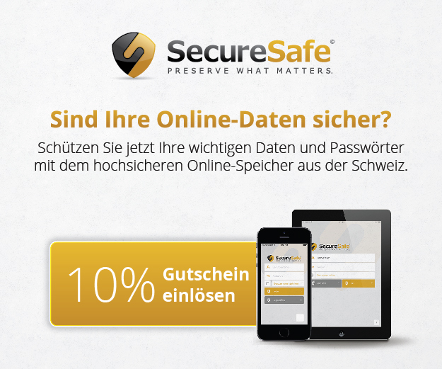 SecureSafe sicherer Cloudspeicher